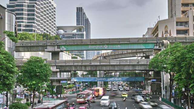 バンコク スカイトレイン - 高架電車点の映像素材/bロール