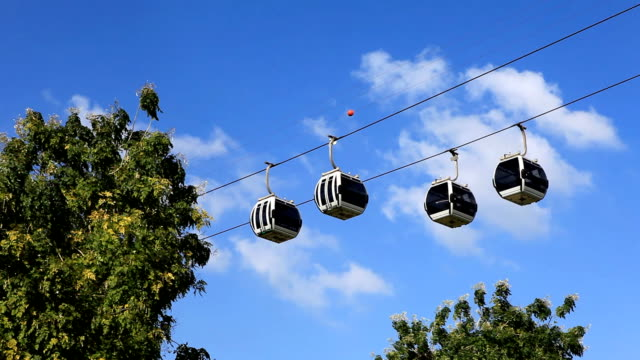 sky tram cable car - amusement park stock videos & royalty-free footage