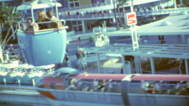 sky tram / its a small world / more sky tram views / disneyland memories on march 12 1969 in anaheim california - disney stock videos and b-roll footage