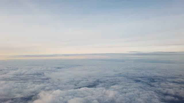 sky view from airplane window - viewpoint stock videos & royalty-free footage