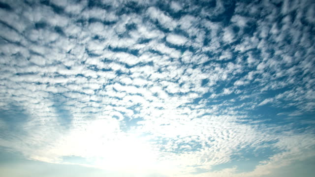 4k sky with moving clouds timelapse. - cirrocumulus stock videos & royalty-free footage
