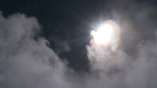 sky with sun and flowing clouds, shizuoka, japan - natural landmark stock videos & royalty-free footage