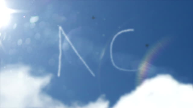 sky writing smoke trail - no (full hd) - test results stock videos and b-roll footage