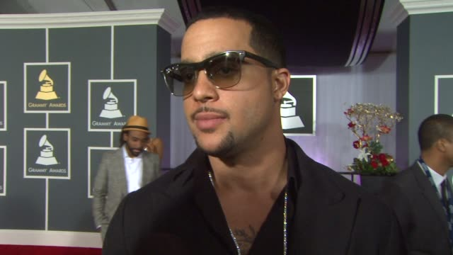 skyblu on being a nominee, and on lmfao at the 55th annual grammy awards - arrivals interviews in los angeles, ca, on 2/10/13. - nominee stock videos & royalty-free footage