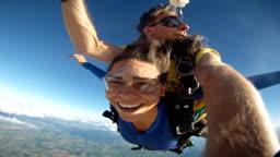 Skydive Tandem Selfie cute woman