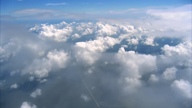 POV skydive with clouds