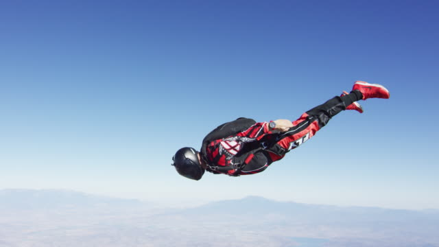 skydiver flyby - skydiving stock videos & royalty-free footage