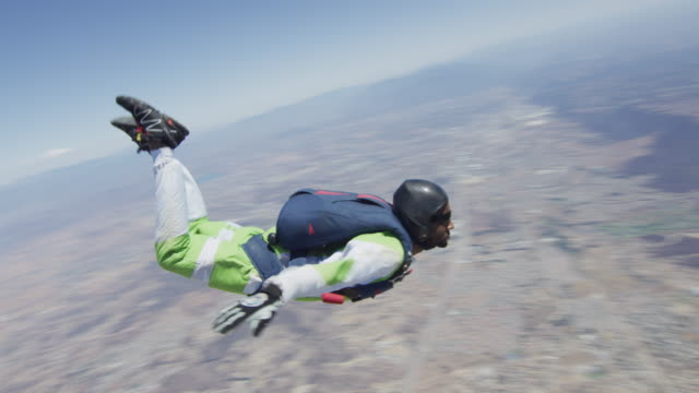 skydiver in free fall - skydiving stock videos & royalty-free footage
