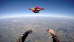 Skydiver point of view