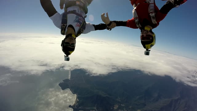 Skydiving at the beach