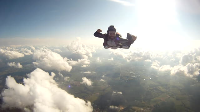 skydiving coach - parachute stock videos & royalty-free footage