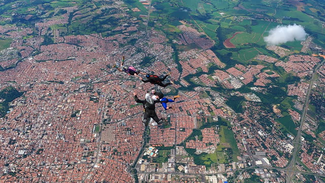 skydiving group formation - casual clothing stock videos & royalty-free footage