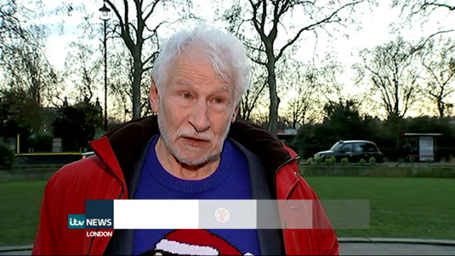 skydiving pensioner raises money for charity david powell interview sot - itv london lunchtime news stock-videos und b-roll-filmmaterial