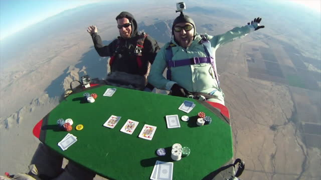 Skydiving Poker POV 1