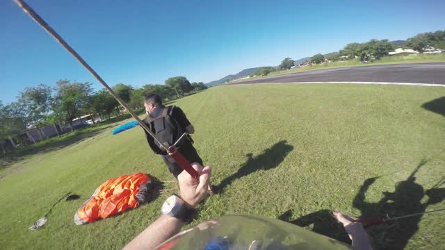 skydiving pov landing mistake - landing touching down stock videos & royalty-free footage