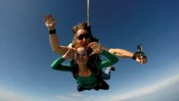Skydiving tandem in Rio de Janeiro 4K