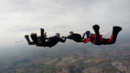 Skydiving team 4K