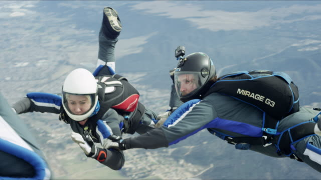 Skydiving Team Close-up