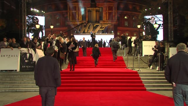 'skyfall' royal world premiere at royal albert hall on october 23 2012 in london england - skyfall 2012 film stock videos and b-roll footage