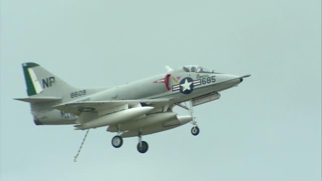 skyhawk flying in the sky - virginia beach stock videos & royalty-free footage