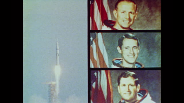 stockvideo's en b-roll-footage met skylab 3 is launched on a saturn rocket with astronauts gerald p. carr, edward g. gibson and william r. pogue - 1973