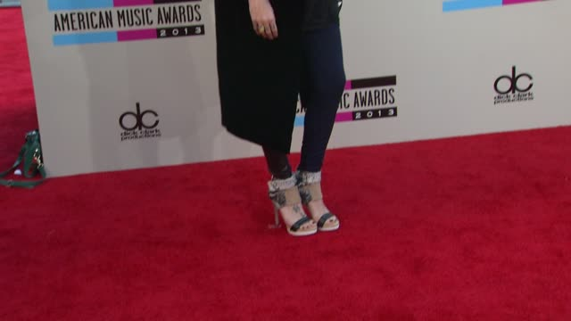 skylar grey arrives at the 2013 american music awards arrivals - american music awards stock videos and b-roll footage