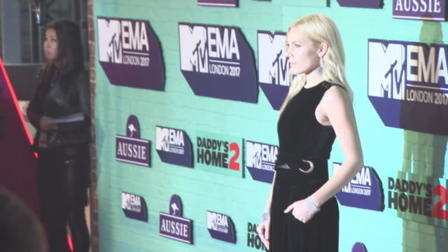 skylar grey at mtv ema awards at the sse arena, wembley on november 12, 2017 in london, england. - wembley arena stock videos & royalty-free footage