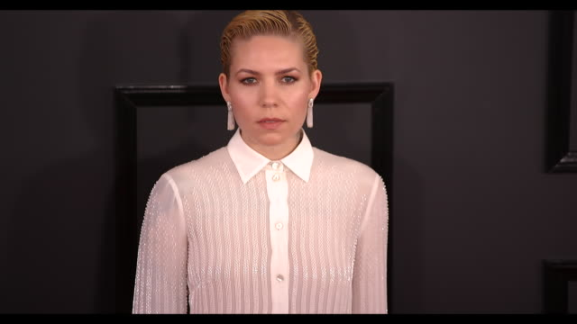 Skylar Grey at the 59th Annual Grammy Awards Arrivals at Staples Center on February 12 2017 in Los Angeles California 4K