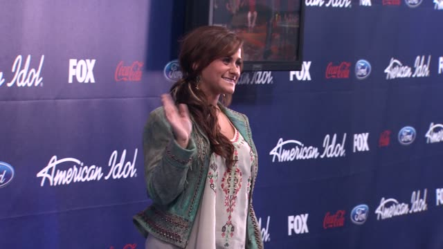 skylar laine at meet the american idol judges finalists on 3/1/2012 in los angeles ca - american idol stock videos and b-roll footage