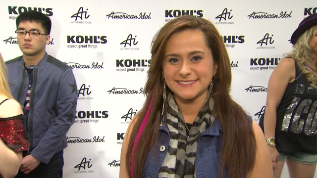 skylar laine on why she is there fashion inspirations and best idol moment at american idol season 11 contestants appear at los angeles kohl's for... - american idol stock videos and b-roll footage