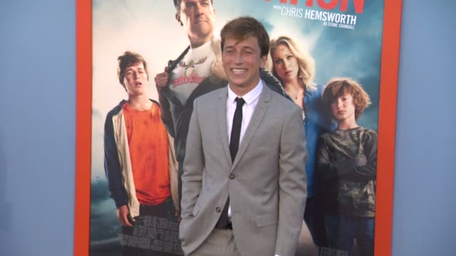 skyler gisondo at the vacation los angeles premiere at regency village theatre on july 27 2015 in westwood california - regency village theater stock videos and b-roll footage