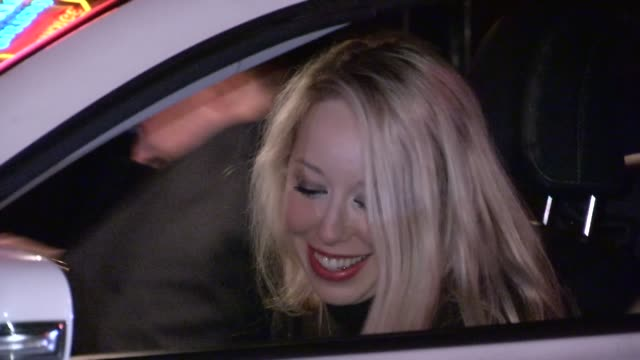 skyler shaye departs chateau marmont in west hollywood, 02/16/13 - skyler shaye stock videos & royalty-free footage