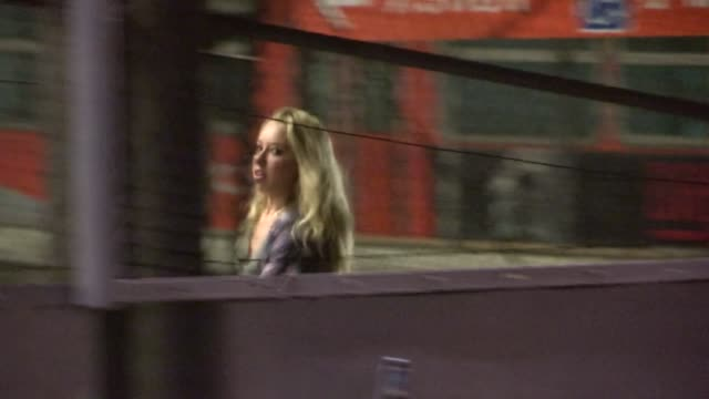 skyler shaye departs the roosevelt in hollywood, 09/19/12 - skyler shaye stock videos & royalty-free footage