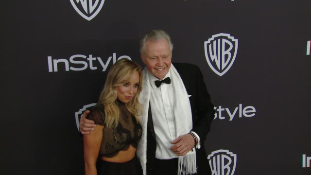 skyler shaye, jon voight at instyle and warner bros. golden globes after party 2019 in los angeles, ca 1/6/19 - skyler shaye stock videos & royalty-free footage