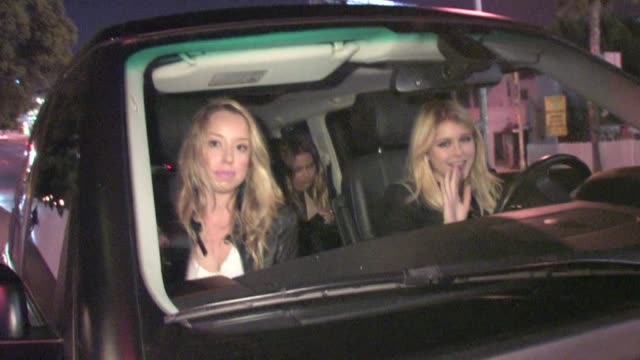 skyler shaye leaving chateau marmont in west hollywood 02/20/12 - skyler shaye stock videos & royalty-free footage