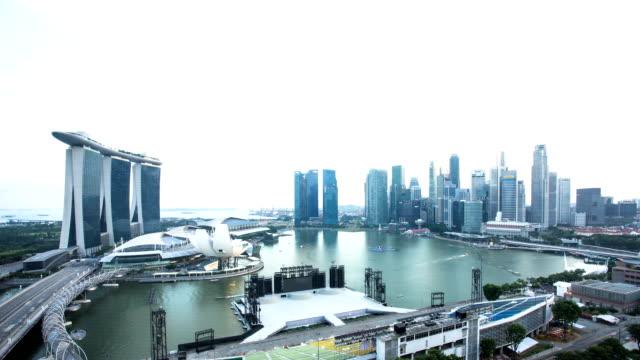 skyline und die skyline der modernen Stadt, Singapur während daytime.Time hinfällig.