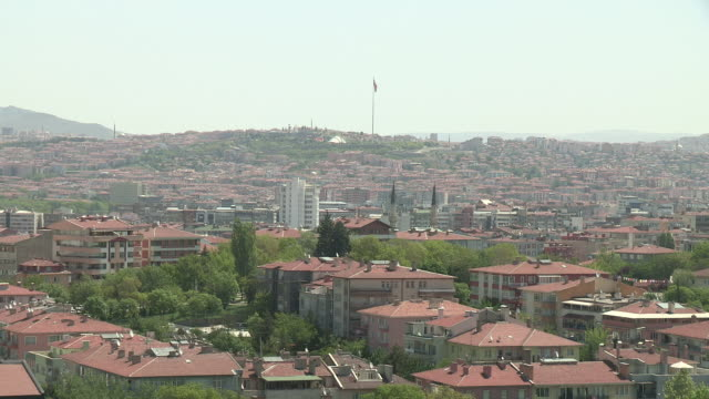 skyline and mosque in ankara, turkey - ankara stock-videos und b-roll-filmmaterial