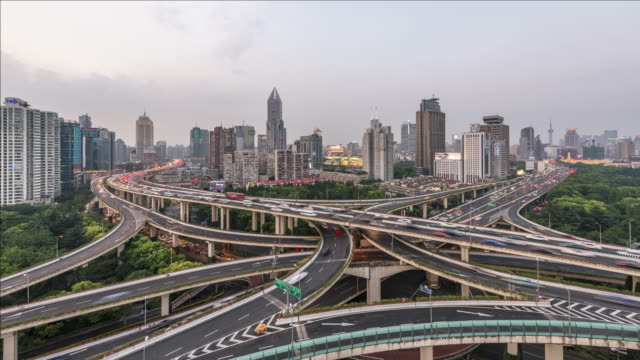 T/L Skyline and overpass of Shanghai, China