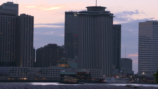 skyline at dusk new orleans louisiana usa on tuesday may 9 2017 - flat stock videos & royalty-free footage