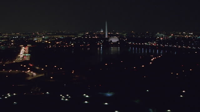 ws ha skyline at night / washington dc, usa - washington dc stock videos & royalty-free footage