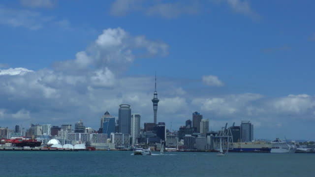 skyline - auckland, new zealand - auckland ferry stock videos & royalty-free footage
