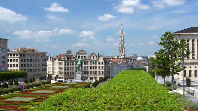 skyline brussels - city of brussels stock videos and b-roll footage