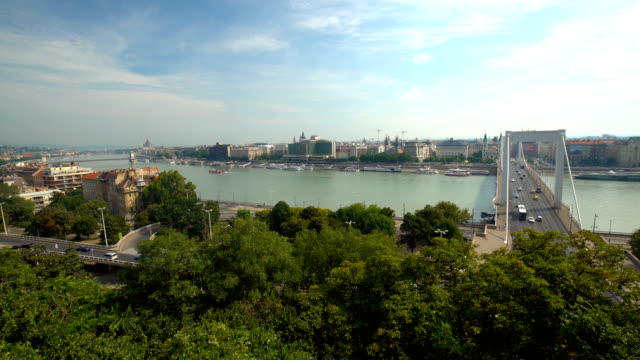 vidéos et rushes de skyline budapest, time lapse - culture hongroise