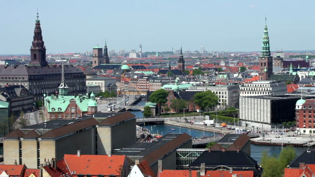 skyline copenhagen - denmark stock videos & royalty-free footage
