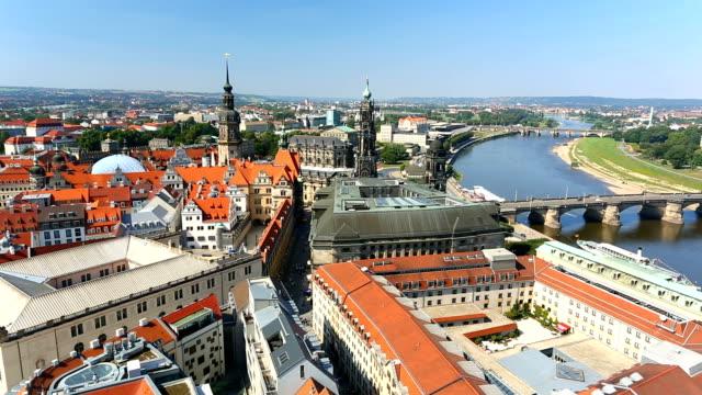 skyline dresden with sunlight - hofkirche stock videos & royalty-free footage