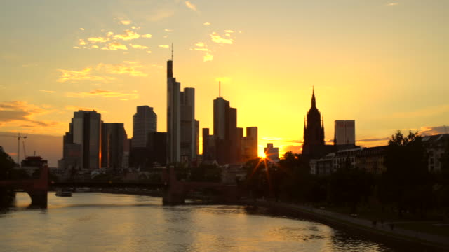 Skyline Frankfurt at sunset