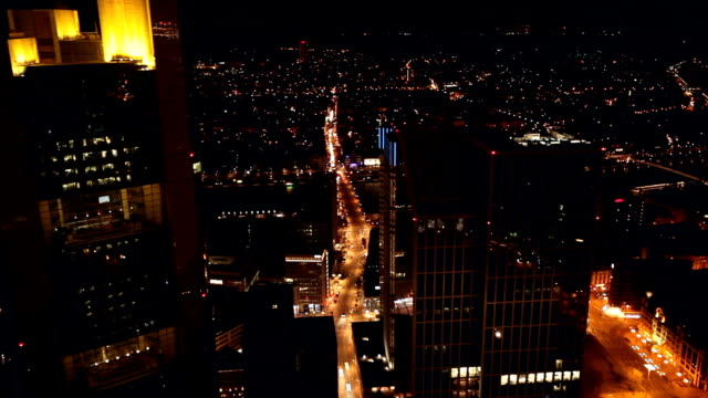 skyline frankfurt by sunset, time lapse - frankfurt main stock videos and b-roll footage