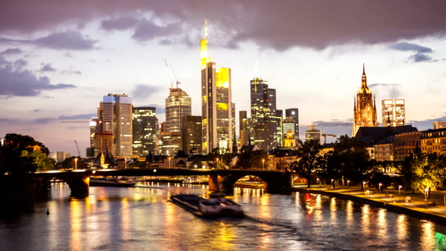 Skyline Frankfurt, Time Lapse Video