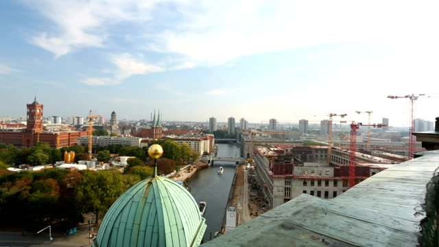 skyline in berlin, panning - panoramic stock videos and b-roll footage