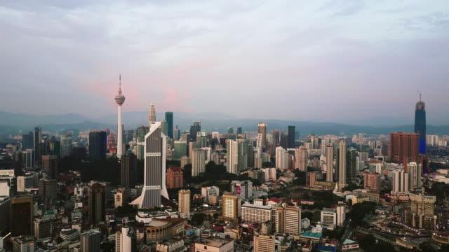 skyline in capital city - kuala lumpur, malaysia - kuala lumpur stock videos & royalty-free footage